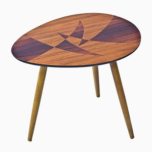 Schwedischer Tisch mit Geometrische Marketerie, 1950er