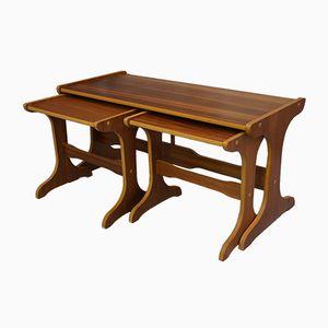 Tables Gigognes Mid-Century en Teck