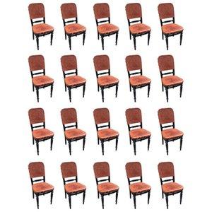 Stühle aus Leder und Holz von Thonet, 1900er, 20er Set