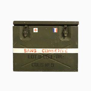 Französische Medizinische Vintage Militär Kühlbox