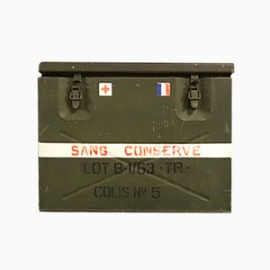 Vintage French Army Medic Cool Box