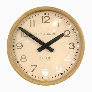 Vintage Industrial Factory Clock by Brillie
