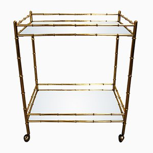 Vintage Brass Bar Cart, 1950s
