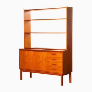 Teak Bookcase with Writing Space, 1960s