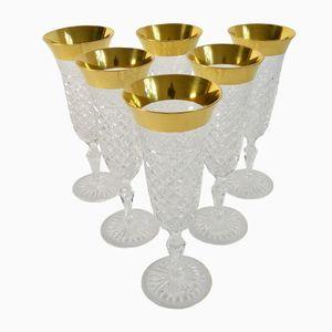 Vintage Sparkling Wine Glasses from Josephinenhütte, Set of 6