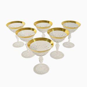 Set di bicchieri da liquore vintage di Josephinenhütte, set di 6