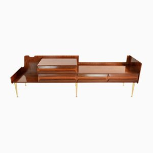 Italian Mid-Century Rosewood Veneer Dressing Table