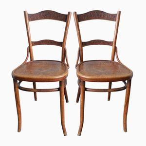 Vintage Esszimmerstühle von Thonet, 2er Set