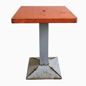 Tavolo da bistrò con base in metallo di Tolix, anni '50