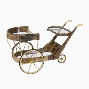 Chariot de Bar ou de Serice Mid-Century Moderne par Aldo Tura, 1960s