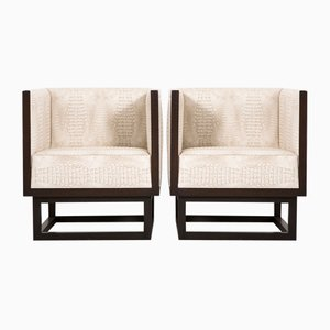 Vintage Lounge Chairs by Josef Hoffmann for Wittmann, Set of 2