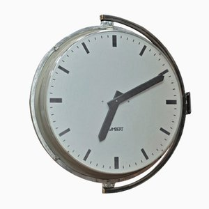 Large Factory Wall Clock from Lambert, 1960s