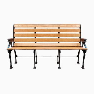 Antique Train Station Bench, 1900s
