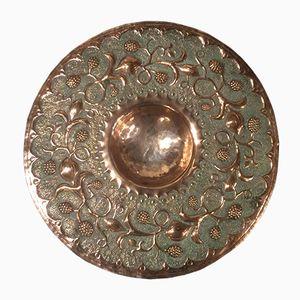 Jugendstil Platte aus Kupfer, 1890er
