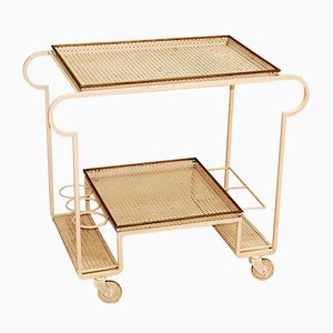 Serving Cart in Lacquered Steel by Mathieu Mategot, 1950s