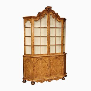 Dutch Display Cabinet in Walnut and Burl Elm, 1880s