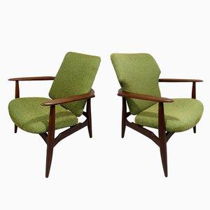 Mid-Century Lounge Chairs by Louis van Teeffelen for Wébé, Set of 2