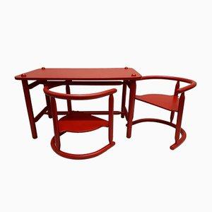 Anna Kindertisch und 2 Stühle von Karin Mobring für Ikea, 1963