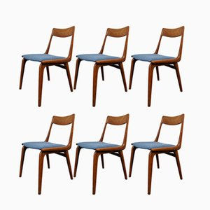 Mid Century Boomerang Dining Chairs By Alfred Christensen For Slagelse  Møbelværk, Set Of 6