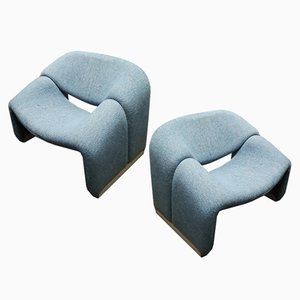 F598 Armchairs by Pierre Paulin for Artifort, 1980s, Set of 2