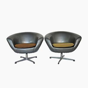 Czech Club Chairs from UP Zavody Rusinov, 1960s, Set of 2