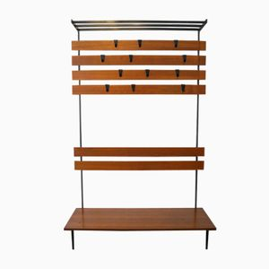 Mid-Century Coat and Shoe Rack