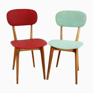 French Vintage Chairs, 1950s, Set of 2