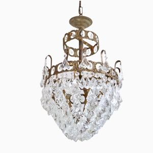 French Basket Chandelier, 1920s
