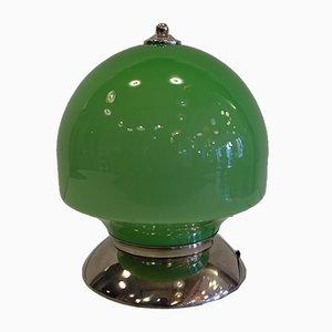 Mushroom Opaline Glass Table Lamp, 1960s