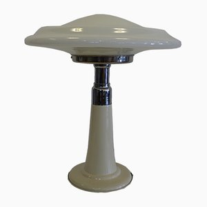 Lampada da tavolo UFO in vetro opalino di Gaivota, anni '70