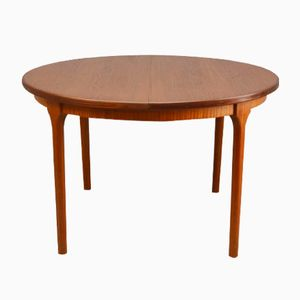 Mid-Century Teak Extendable Circular Dining Table by McIntosh