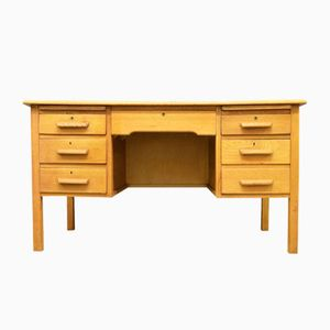 Mid-Century Oak Teacher's Desk, 1960s