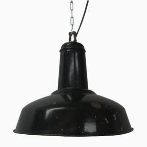 Schwarze Industrie Lampe, 1930er