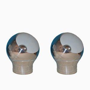 Appliques Murales ou Lampes de Bureau Mid-Century de Hemi, Set de 2