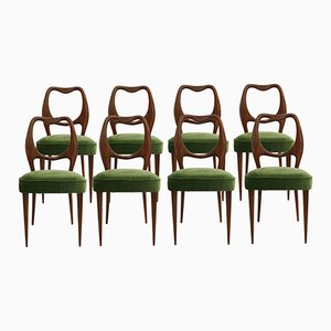 Vintage Dining Chairs by Osvaldo Borsani, 1950s, Set of 8
