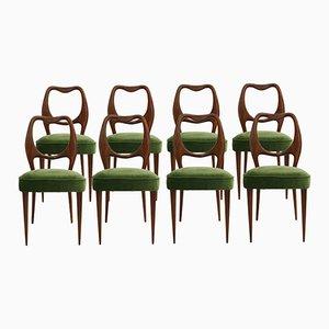 Vintage Esszimmerstühle von Osvaldo Borsani, 1950er, 8er Set
