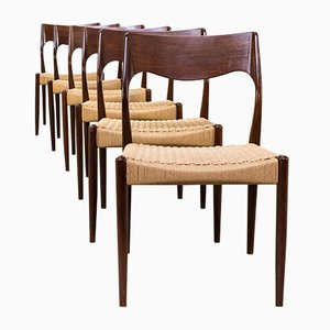 71 Dining Chairs by Niels Otto Møller for J.L. Møller, 1960s, Set of 6