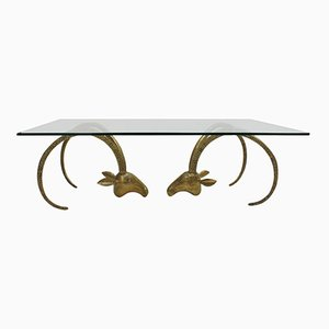 Bronze and Glass Center Table, 1940s