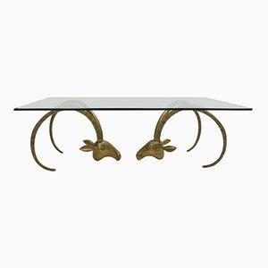 Tisch aus Bronze & Glas, 1940er