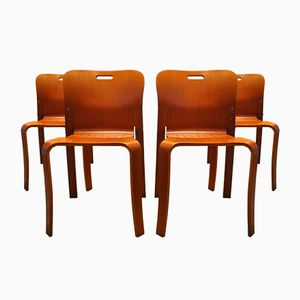 Stackable Mid-Century Chairs by Jan Ekselius for JOC Vetlanda, Set of 4