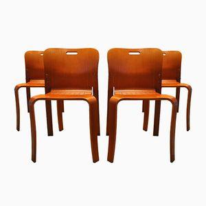 Stapelbare Mid-Century Stühle von Jan Ekselius für JOC Vetlanda, 4er Set