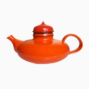 Vintage Orange Pop Tea Pot by Inger Persson for Rorstrand