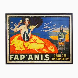 Vintage Fap' Anis Lithographie Poster by Henry Delval for Publicité Wall