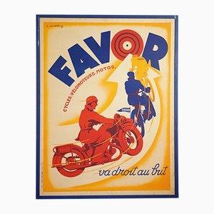 Manifesto pubblicitario Favor di Lionel Matthey per Etablissements Delattre, anni '30