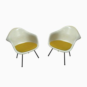 LAX Easy Lounge Chairs by Charles & Ray Eames for Mobilier International, 1970s, Set of 2