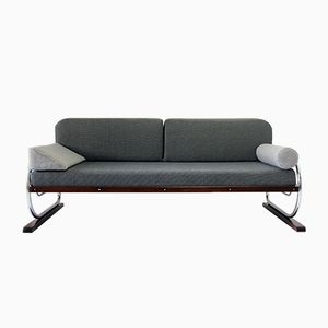 Sofa mit Gestell aus Chrom-Rohr von Hynek Gottwald, 1930er
