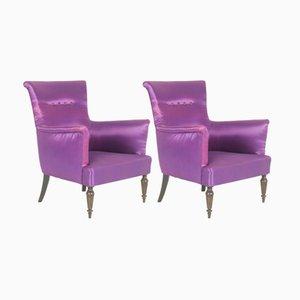 Purple Italian Armchairs, 1950s, Set of 2