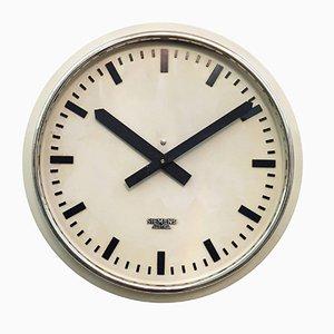 Horloge Murale d'Usine ou d'Atelier de Siemens, Autriche, 1955