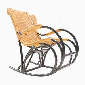 Vintage Rattan Rocking Chair, 1970s