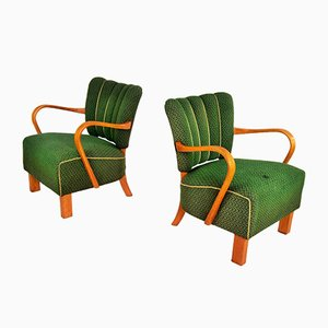 Armchairs by Jindrich Halabala for UP Závody Brno, 1938, Set of 2
